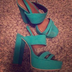Cute block heels size 6 women